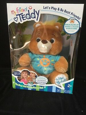 My Friend Teddy-BLUE.Interactive Plush Talking Toy Bear,Device Capable.ENG/SPAN