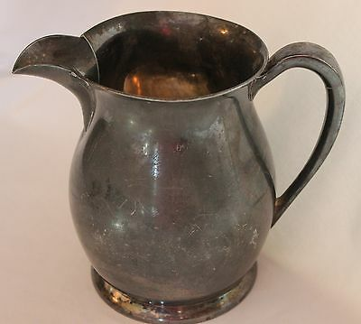 Vintage White Silver Company SilverPlate Water Pitcher #238 Taunton Massachusets