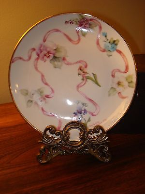 Porcelain Cabinet Plate- Hand Painted And Signed By Artist