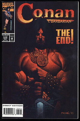 Conan the Barbarian #275 FN/VF White Pages Final Issue Low Print Run