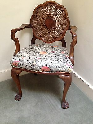 Pair Of Antique Walnut Chairs In Fornasetti