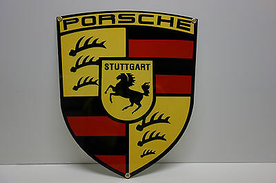"PORSCHE SHIELD DEALER SIGN 17 3/4"" high by 14 1/2"" wide. AWESOME"