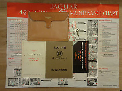 Jaguar E Type Series 1 Roadster/FHC 4.2/2+2 Owners Handbook/Manual and Wallet