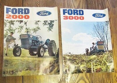 Vintage 1960's FORD TRACTOR 2000 & 3000 Advertising Brochures