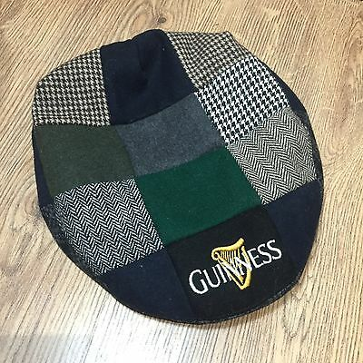 Official Guinness Harp Embroided Flat Cap Hat Genuine Merchandise Patch Tweed ++