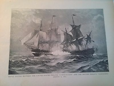 """Mar 7, 1896 Magazine Page #9- The Good Ship """"constitution""""- Naval Battle Scene"""