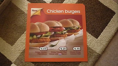 LARGE McDONALDS HAPPY MEAL MENU BOARD TRANSLITE SIGN, THE 3 CHICKEN BURGERS