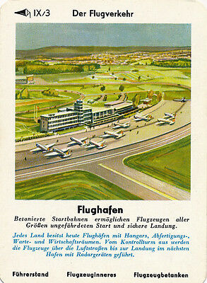 Single Vintage German Game Card: Flughafen
