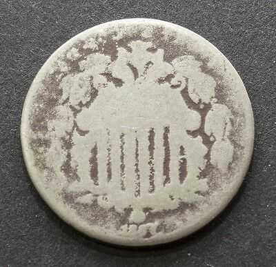 1867 Shield Nickel 5 Cents With Rays On Reverse - Filler Coin