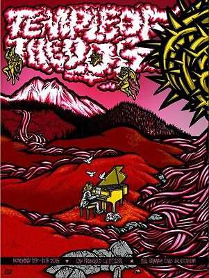 Temple of the Dog Red Variant Poster Art Print San Francisco 2016 Pearl Jam Ames