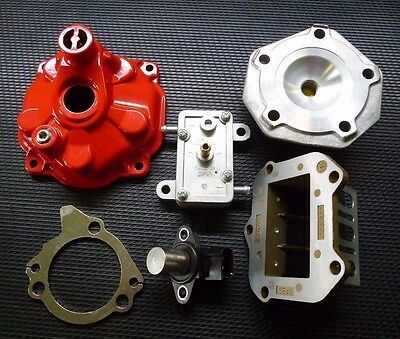 ASSORTED NEW ROTAX MAX PARTS - reed block, cylinder cover, fuel pump, timing