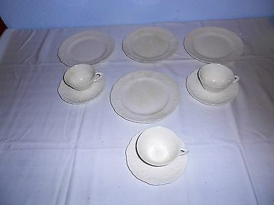 Steubenville Rose Point White Misc. Dishes Embossed Roses on Rim