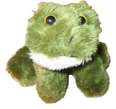 """1992 vtg ENRIQUE Green FROG 7"""" FRONTIER AIRLINES RARE Plush Doll Toy NEW"""