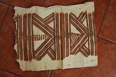 Papua New Guinea decorated Tapa Cloth section collected in the 1960s