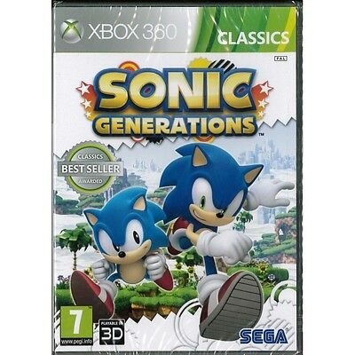 Sonic Generations Game XBOX 360 Brand New
