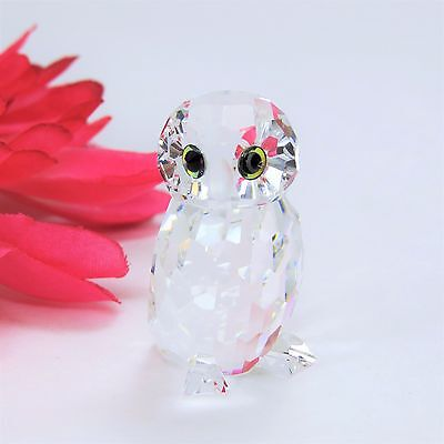 "SMALL SWARVOSKI CRYSTAL OWL FIGURINE 1.5"" TALL Retired- Austria"