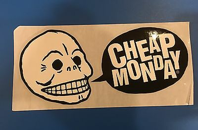 ��  CHEAP MONDAY JEANS GLOSSY ADVERTISING THEMED GLOSSY Decal STICKER ����