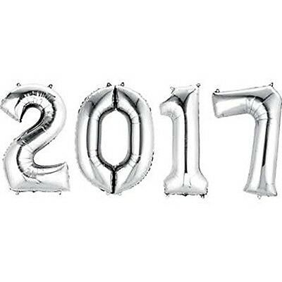 Number Bunch 2017 Balloons - Silver - NEW!!