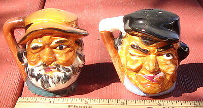 Vintage Pirate Heads Salt and Pepper Shakers, Ceramic