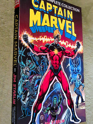 CAPTAIN MARVEL Jim Starlin THE COMPLETE COLLECTION 2016 TPB NEW UNREAD NM Thanos