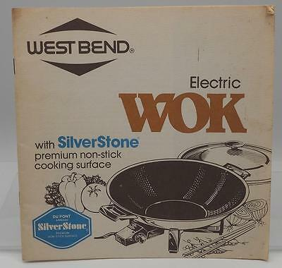 Vintage West Bend Electric Wok  Instructions Manual