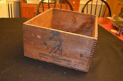 Vintage Hercules Electric Blasting Caps Shipping Crate Great Graphics