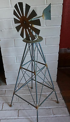 Rustic Country Primitive Amish Style Windmill Metal Garden Home Decor Statue NEW
