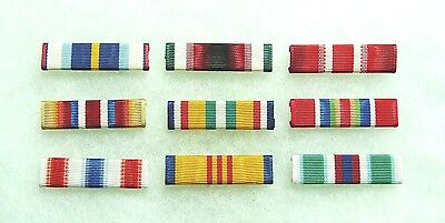 US Merchant Marine Medal service ribbons, set of 9
