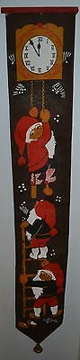 Vintage Scandinavian Wall Hanging W/Bell Tomte Brownie Pixie Elf Gnome on Ladder