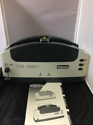 "Fellowes TB450 2"" Thermal Binding Machine Book Pamphlet 700 Sheets Heat Glue"