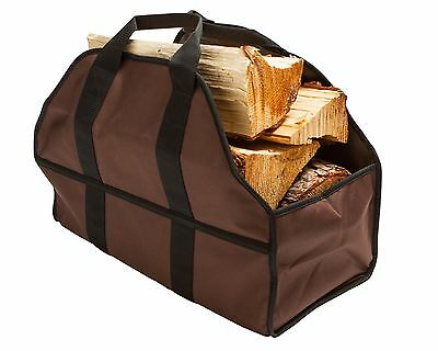 Premium Firewood Carrier & Log Tote by SC Lifestyle Brown Premium-Log Canvas NEW