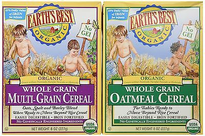 Earth's Best Organic Whole Grain Oatmeal and Multi-grain Cereal (743715015654)