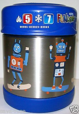NWT 10oz ROBOTS Skateboards Insulated Stainless Steel Food Jar THERMOS Funtainer