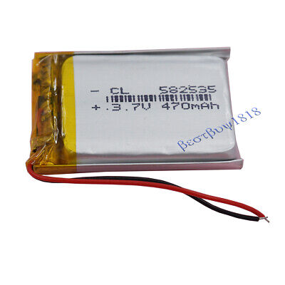3.7v 470 mah Rechargable Li Lithium cells for GPS bluetooth pen Glasses 582535