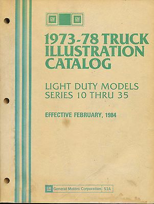 1973-1978 Chevrolet Chevy Truck Parts Illustrated Catalog Manual Series 10 - 35