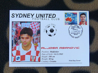 Sydney United Football Club 2001 P/stamp First Day Cover - Aljosa Asanovic