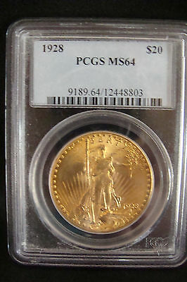 $20 St. Gaudens MS64 Gold Coin 1928