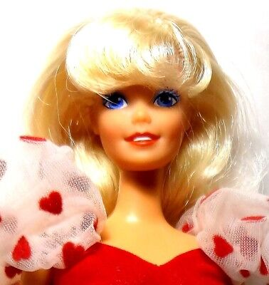 Vintage 1991 Mattel Pretty Hearts Barbie Doll
