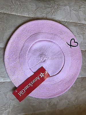 American Girl Grace Girl Size Pink Beret Hat New!