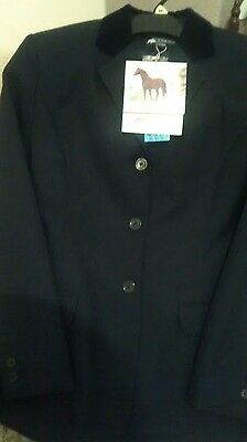 """BNWT  Dublin Hobart Navy Competition Riding  Jacket Size 32"""""""