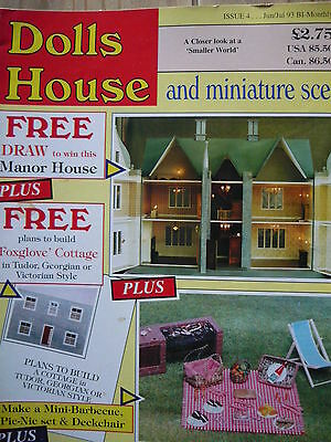 Dolls House And Miniature Scene Magazine Issue 4 - Free Plans!