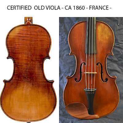 A fine old French viola Sartory year 1860 - Certificate !
