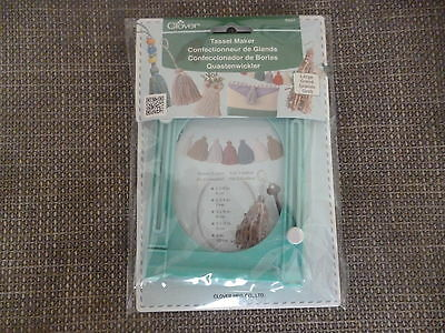Clover Tassel Maker - Creates Tassels With Embroidery Threads or Yarns - Large