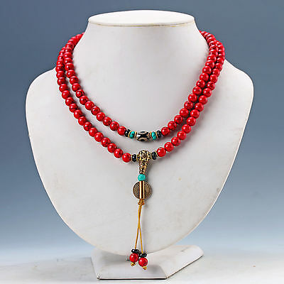 Chinese Natural & Brass Handwork Necklaces & Pendant