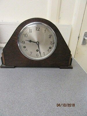Chiming Mantel Clock In Working Order By Garrard