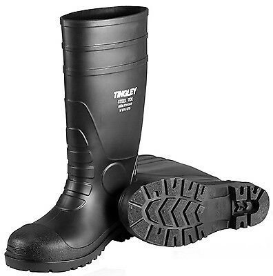 TINGLEY RUBBER Work Boots, Black PVC, 15-In., Men's Size 14