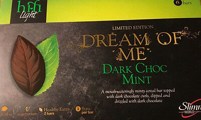 NEW Slimming World Dark Choc Mint Hi-fi light Limited Edition Bars X 6