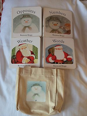 Raymond Briggs Books In Bag - Snowman/Father Christmas,Words,weather,number,opp