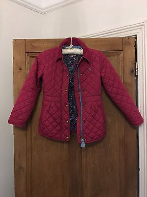 Joules Girl Padded Coat Raspberry Age 8 Years