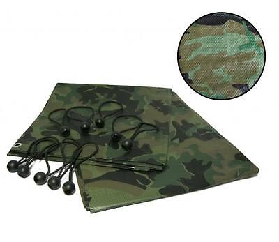 Tarpaulin including ball bungees all colours sizes camouflage blue green clear